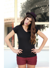 T-shirt Regular Lady V-neck damski 155g